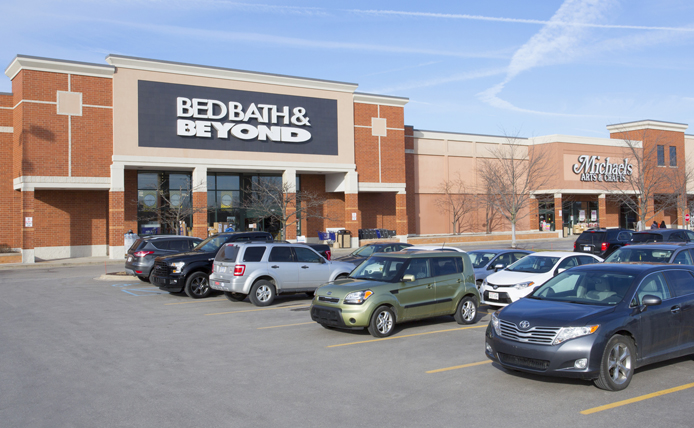 Bed, Bath & Beyond  storefront in Brixmor retail shopping center