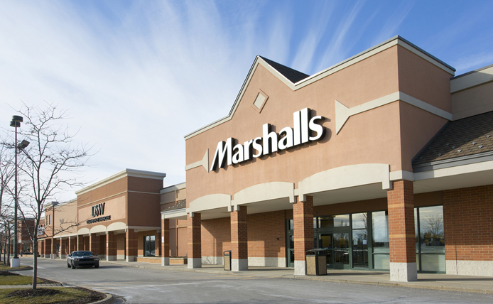 Marshalls  storefront in Brixmor retail shopping center