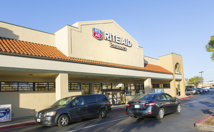 RiteAid storefront in Brixmor retail shopping center