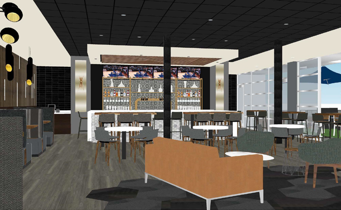 Rendering of Lobby Interior of Studio Movie Grill