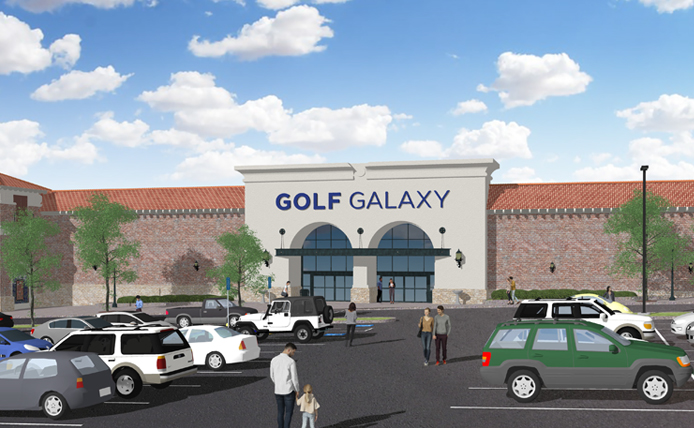 Golf Galaxy at Westminster City Center rendering