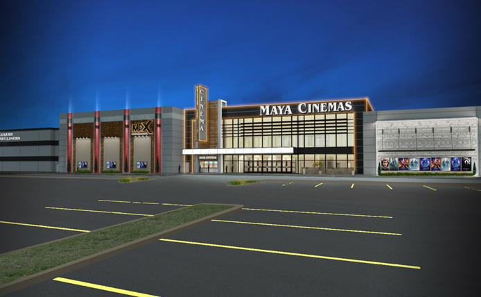Rendering of Maya Cinemas at Wynnewood Village