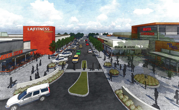 Rendering of LA Fitness at Wynnewood Village