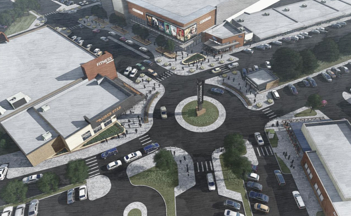 Rendering of Overhead View at Wynnewood Village